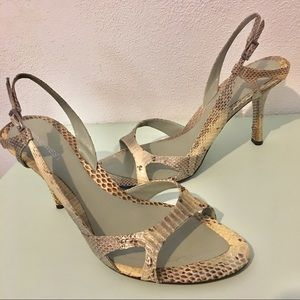 Nine West Snake print Strappy Heels sz 9 1/2